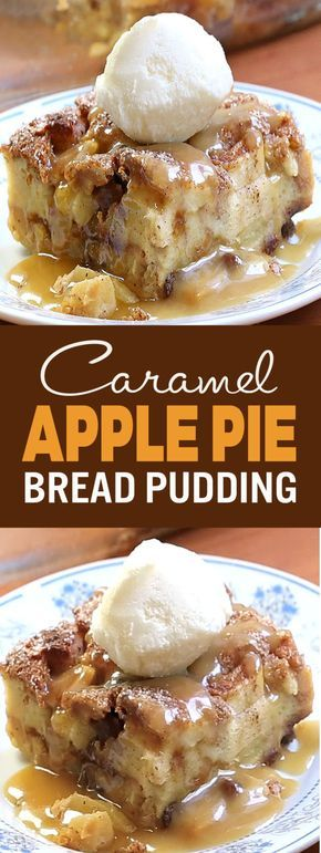 If you like apple pie, you'll go crazy for this delicious caramel apple pie bread pudding... it's one of our favorites!