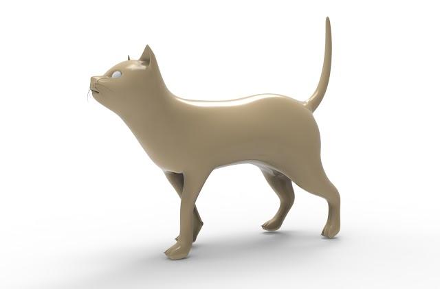 cat 3d model free download obj,maya