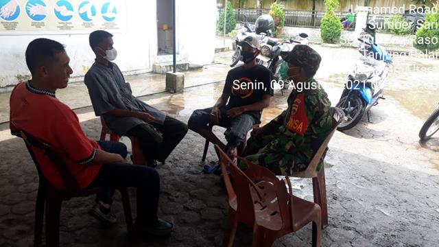 Lakukan Komunikasi Sosial Oleh Personel Jaajran Kodim 0208/Asahan Bersama Masayarakat Warga Binaan