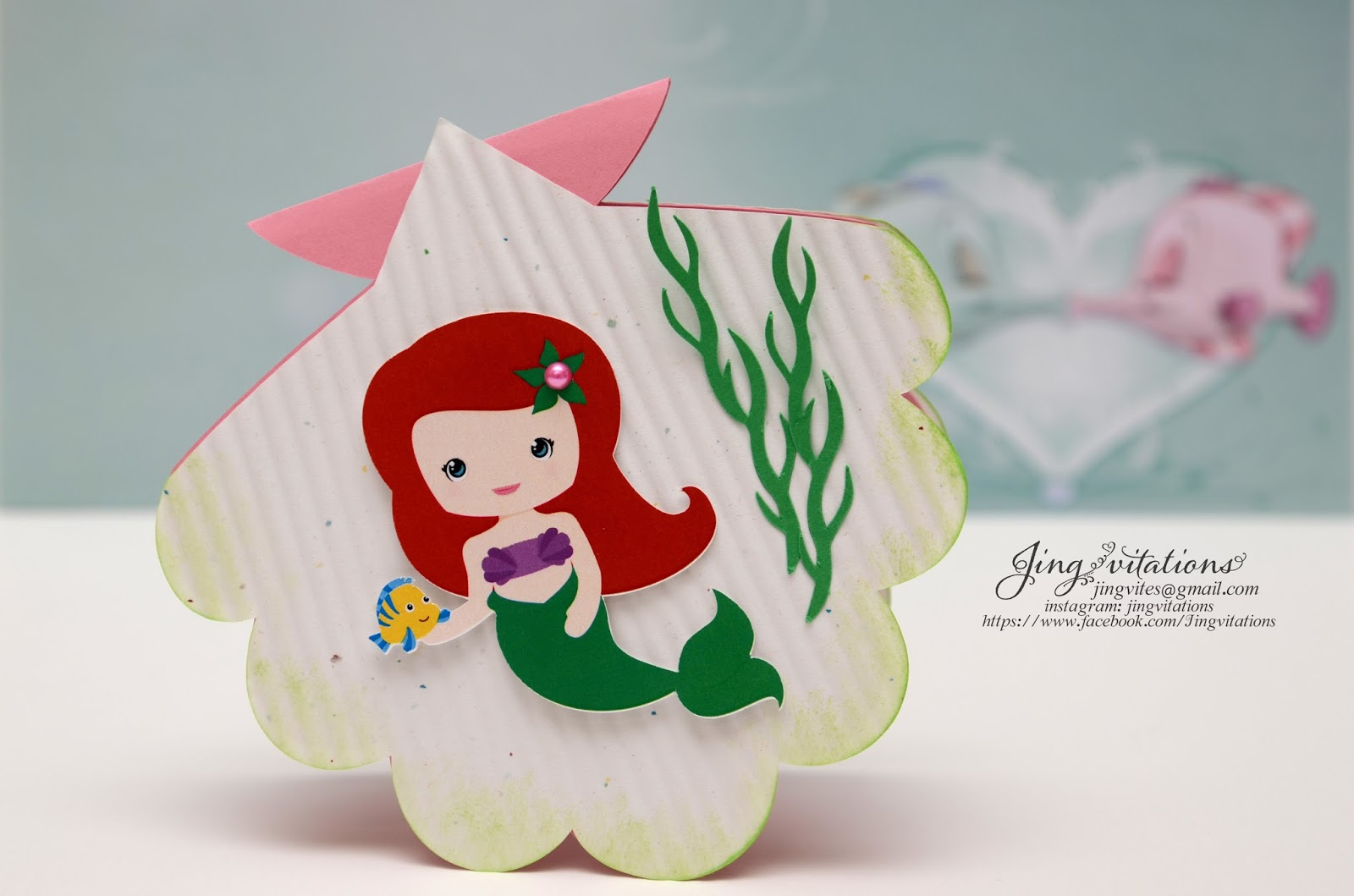 Birthday and Baby Shower Invitations: little mermaid