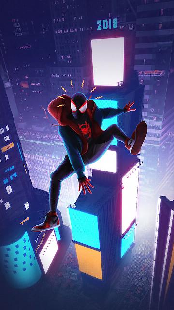 spider man into de spiderverse wallpaper