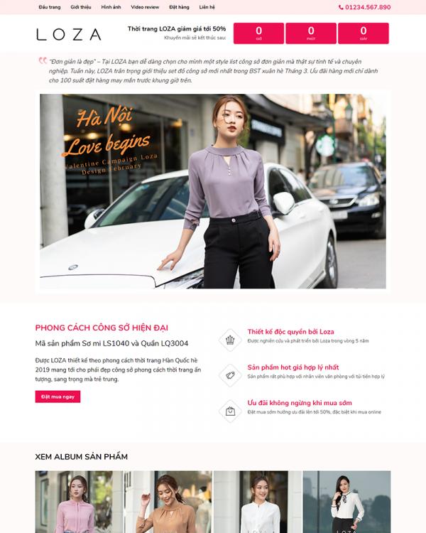 Mẫu Web Fashion 5