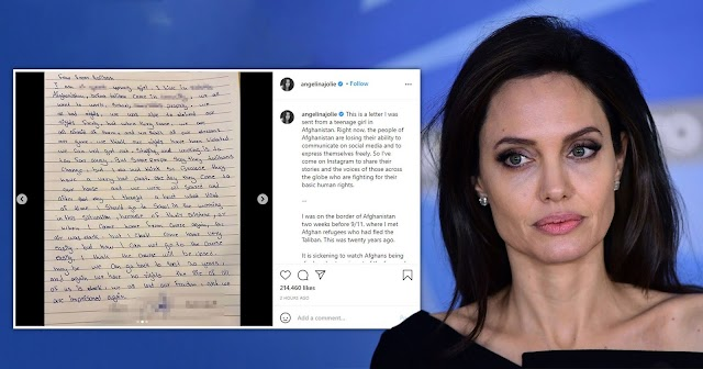 Angelina Jolie joins Instagram, shares heartbreaking letter from young Afghan girl