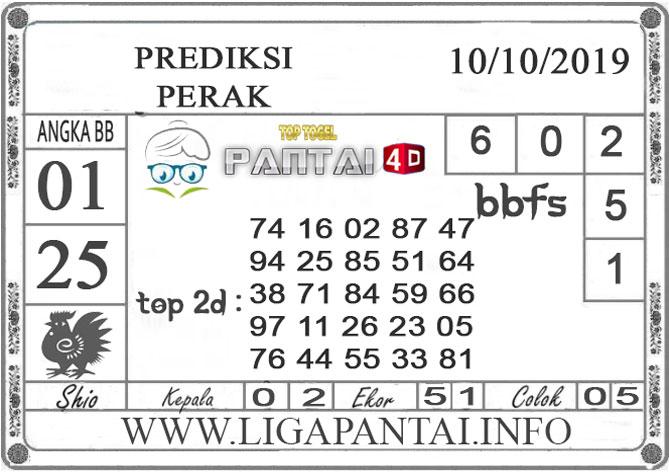 """PREDIKSI TOGEL """"PERAK"""" PANTAI4D 10 OKTOBER 2019"""
