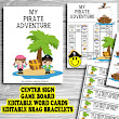 {New Printable in My TPT Store!} Pirate Adventure- Editable Word Work Center