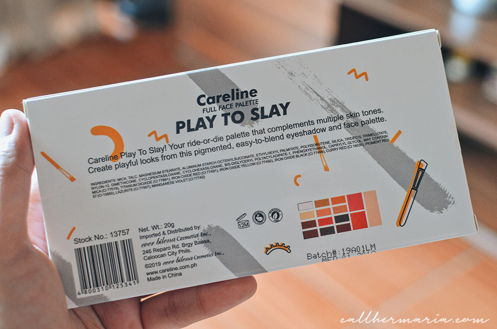 Careline Play to Slay Palette Review Product Details