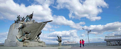 Monument to Schonner Ancud and taking of possesion of the Strait of Magellan, Punta Arenas, Chile.