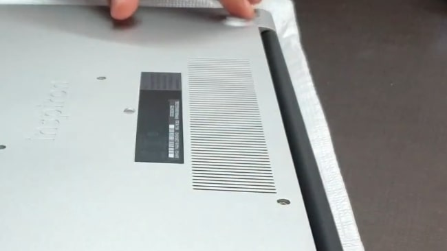 Air intake vents on the Dell Inspiron 3593 laptop.