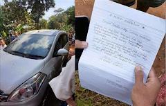Heboh, Maling Kembalikan Mobil Curiannya Disertai Surat Permintaan Maaf