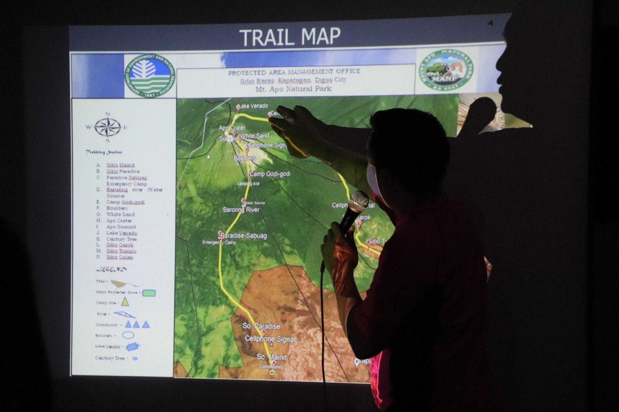 Mt. Apo Natural Park Trail Map