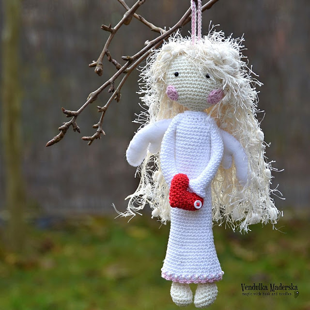 Crochet pattern - angel - by Vendula Maderska