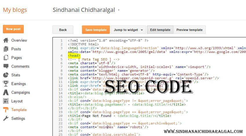SEO Meta Tags for Blogger-Blogspot and How to Fill in your XXXX in
