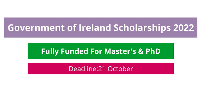 Irish Government Scholarship 2022 (Fully Funded)