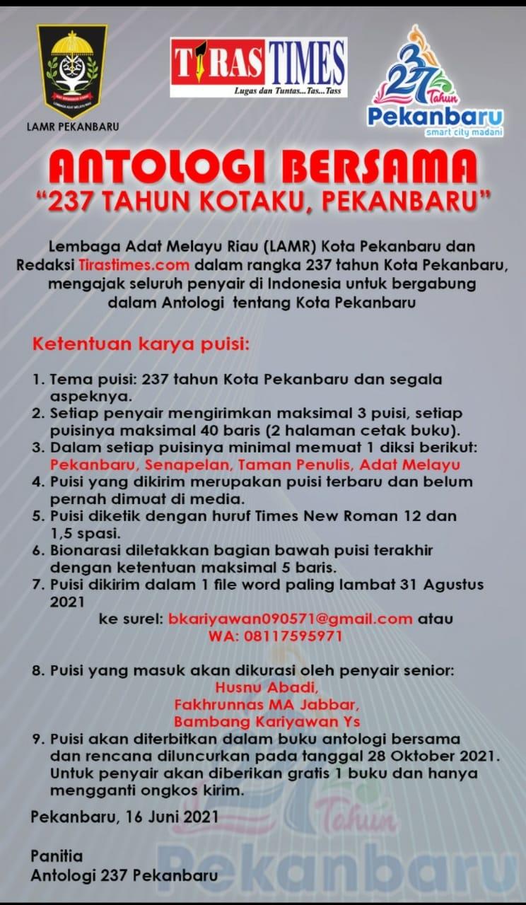 Undangan Menulis Puisi Pekanbaru Riau