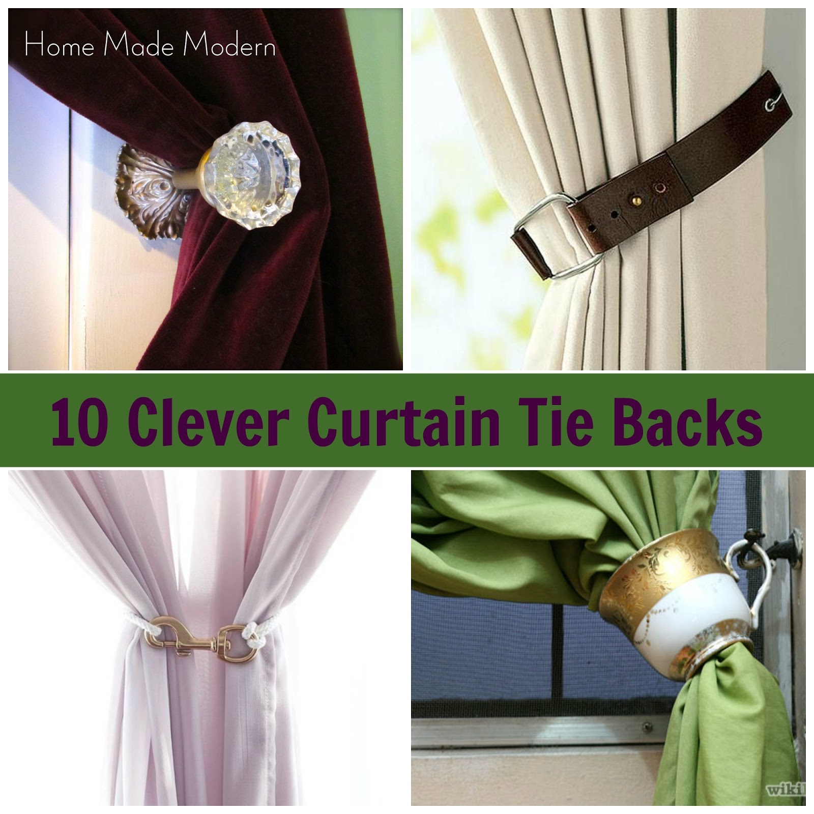 Home Made Modern: Cheap Curtains