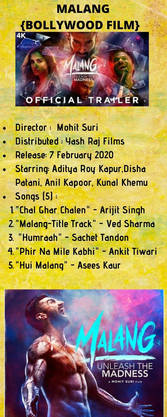 Download Malang Bollywood Film 7th Feb 2020 Rise And Shine