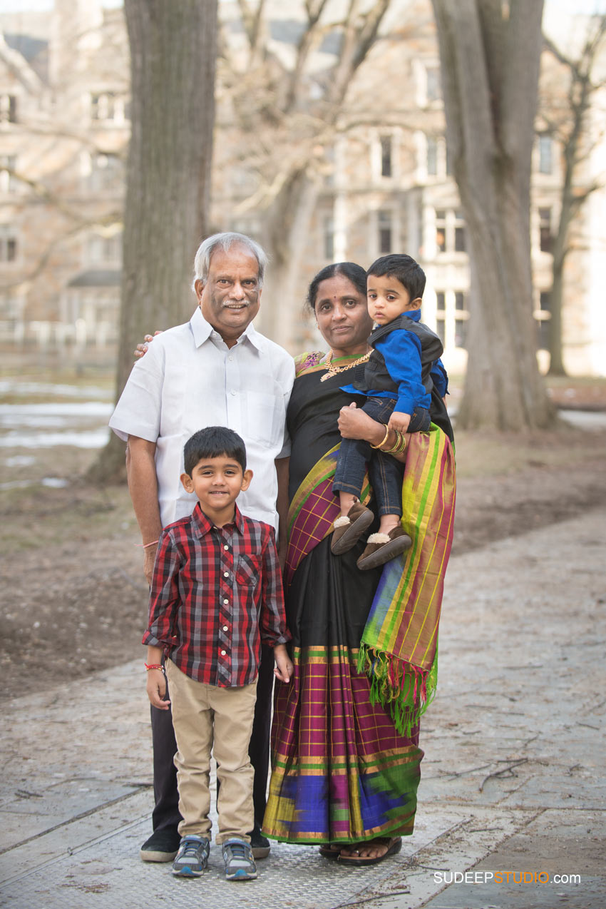 Family Portraits with Grand Parents from India SudeepStudio.com Ann Arbor Family Portrait Photographer