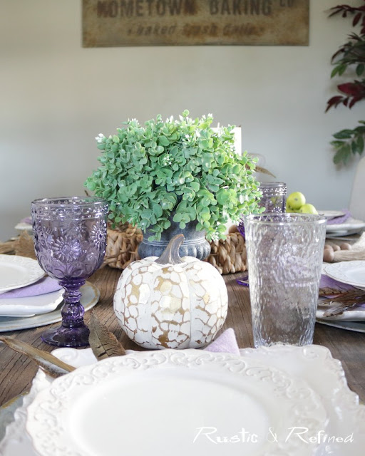 Fall tablescape for any table and any budget