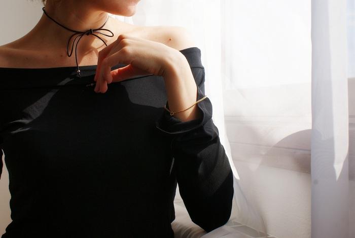 wrapped string choker diy francinesplaceblog
