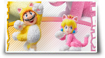 Les amiibo Mario Chat et Peach chat