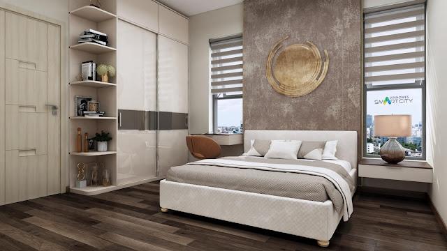 Phòng ngủ căn hộ chung cư Vinhomes Tây Mỗ