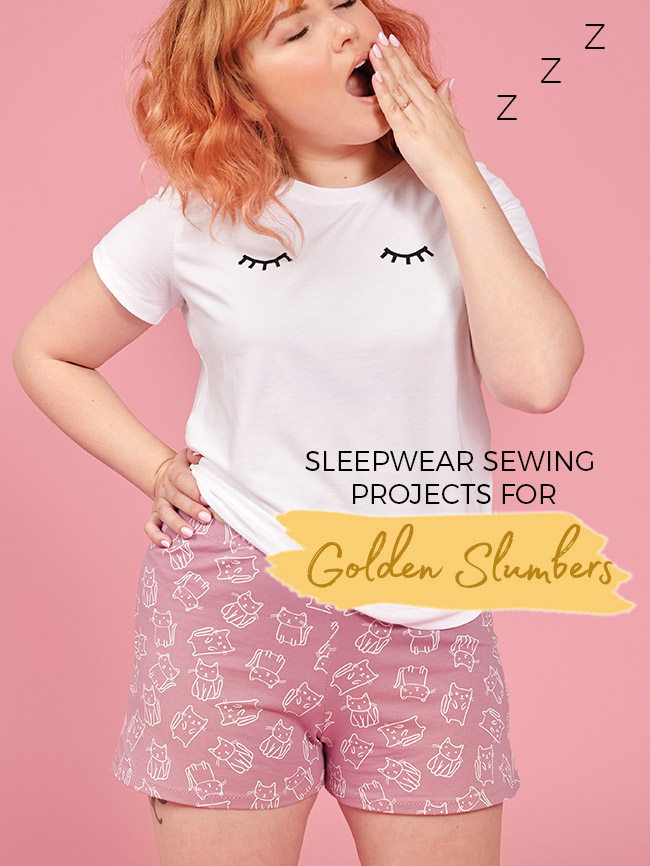 Sleepwear sewing patterns for golden slumbers by Tilly and the Buttons