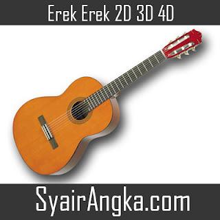 Erek Erek Gitar 2D 3D 4D di Buku Mimpi dan Kode Alam