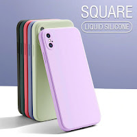 Custodia per telefono in Silicone liquido per iPhone 12 11 Pro Max Mini XS X XR
