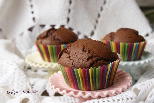 Magdalenas de chocolate  El Ágora de Ángeles