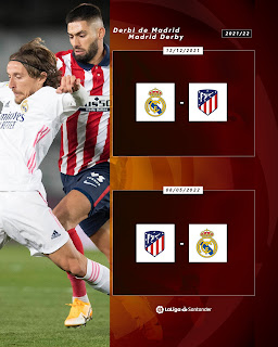موعد ديربى مدريد بين ريال مدريد وأتليتكو فى موسم 2022 من الدوري الاسباني