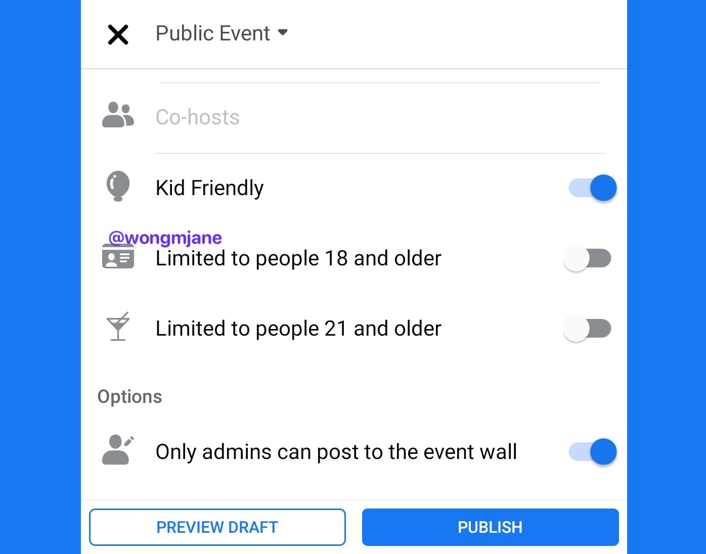 Facebook is working on Age Restrictions / Kid Friendly settings for Public Events