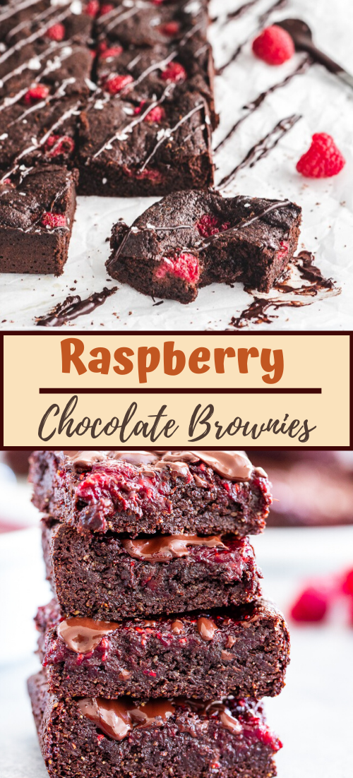 Raspberry Chocolate Brownies #dinnerrecipe #dessertrecipe #chocolatecake #cheesecake #cookiessimplerecipe