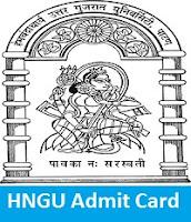 HNGU Admit Card