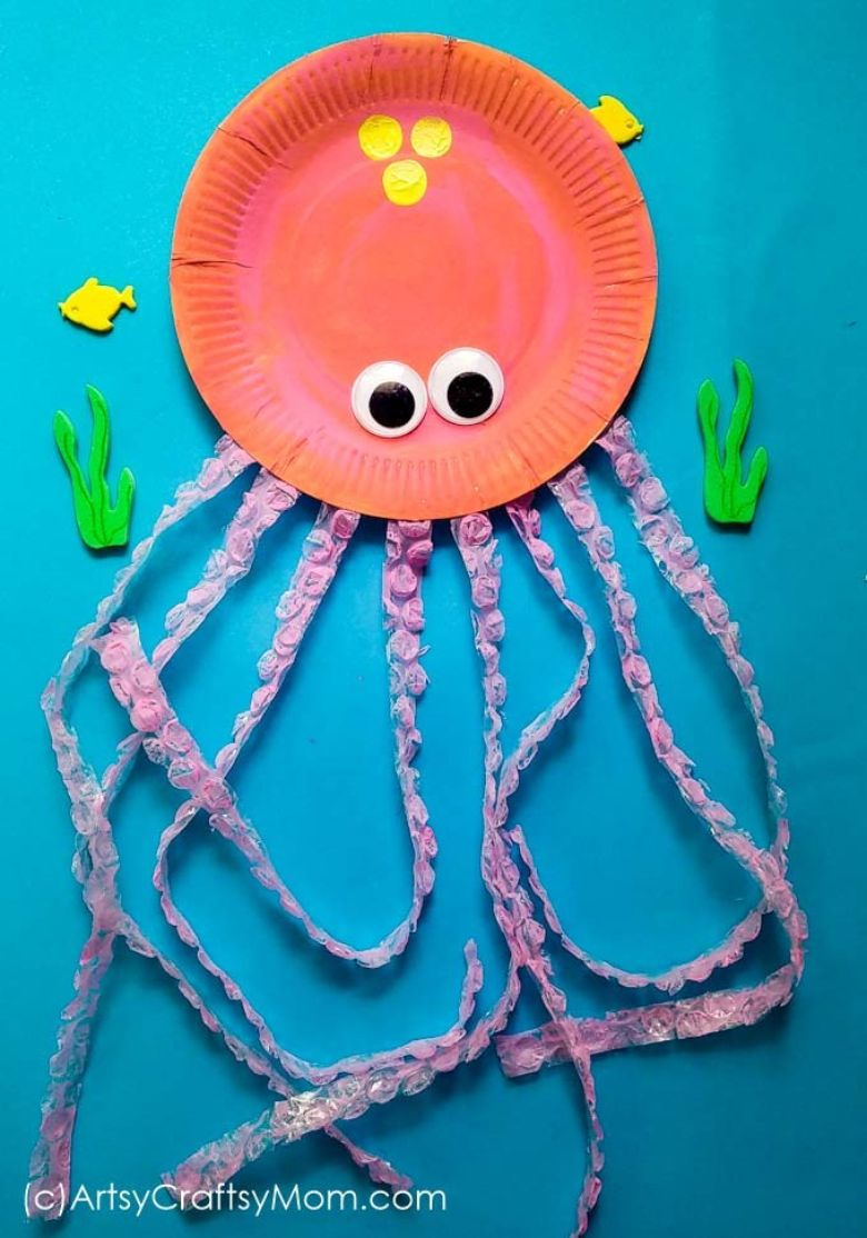 paper plate octopus under the sea craft