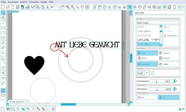 Screenshot zur Visualisierung des Andockens