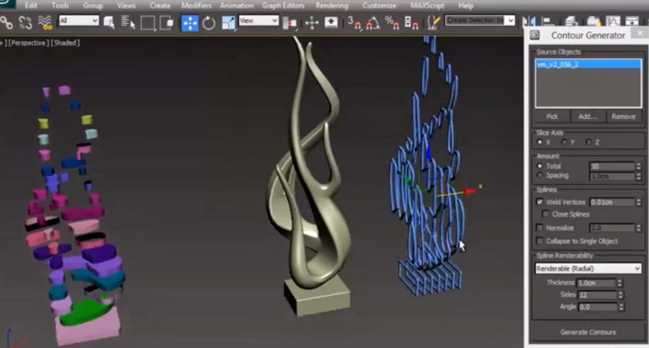 Contour Generator 3dsMax Script tutorial | CG TUTORIAL