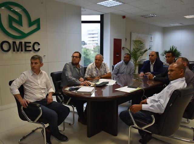 Vereadores participam de reunião com a Comec sobre o transporte coletivo do município