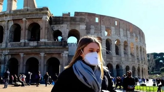 Ιταλία: Τέλος στην υποχρεωτική χρήση μάσκας σε εξωτερικούς χώρους από τις 28 Ιουνίου