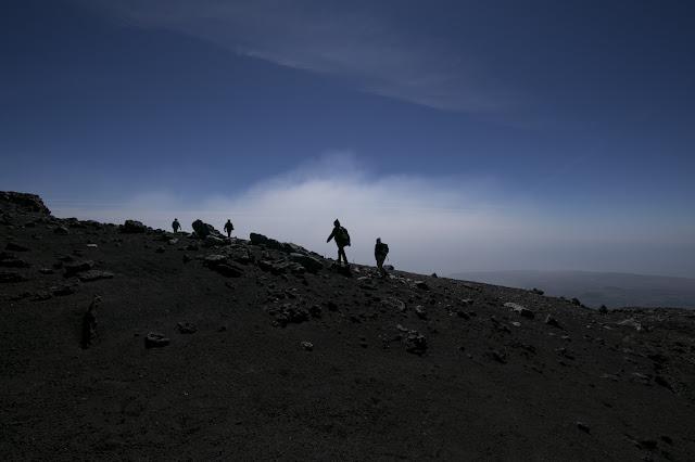 Inizio della salita sul Vulcano Etna
