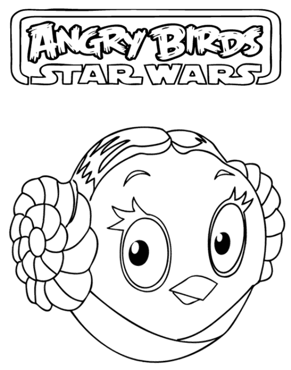 Princess Leia Coloring Pages Angry Birds Star Wars