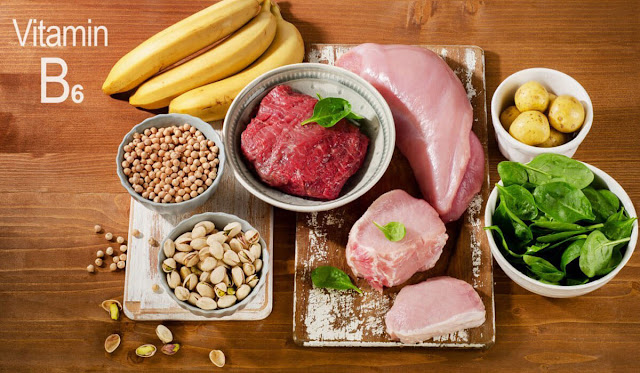 وظائف وفوائد فيتامين ب 6 - B6 ، المصادر الغذائية ، نقصه وسيمته