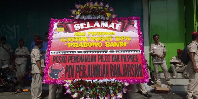 PDIP Tak Masalah Karangan Bunga Dianggap Kubu Prabowo Sindiran 'Supaya Mati'
