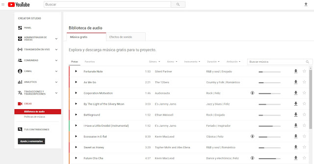 youtube-biblioteca-audio-gratis