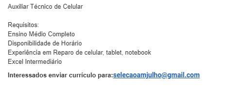 AUXILIAR TÉCNICO DE CELULAR