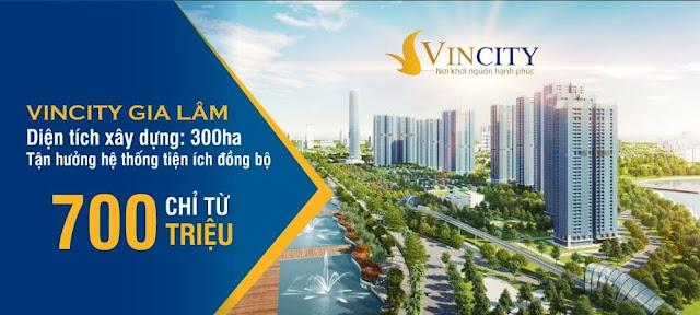 Giá bán căn hộ Vincity Gia Lâm chỉ từ 700tr/căn