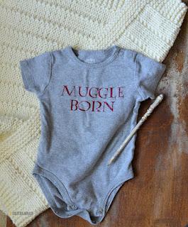 DIY muggle born baby shirt