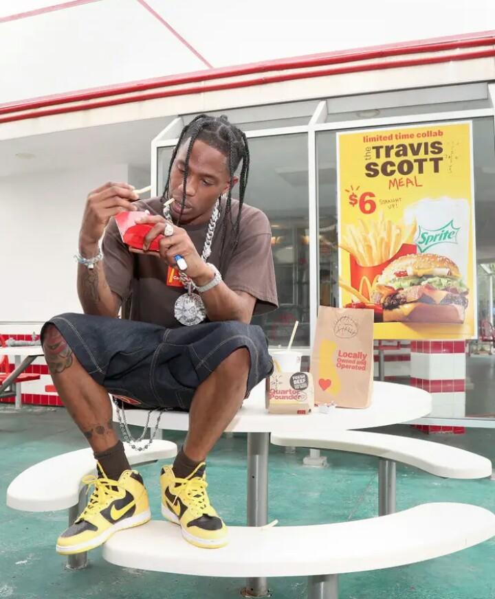 Travis Scott and McDonald's Meal