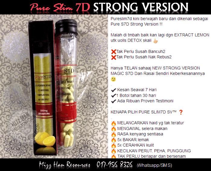 PURE SLIM 7D STRONG VERSION | MHR Stokis Produk Kecantikan