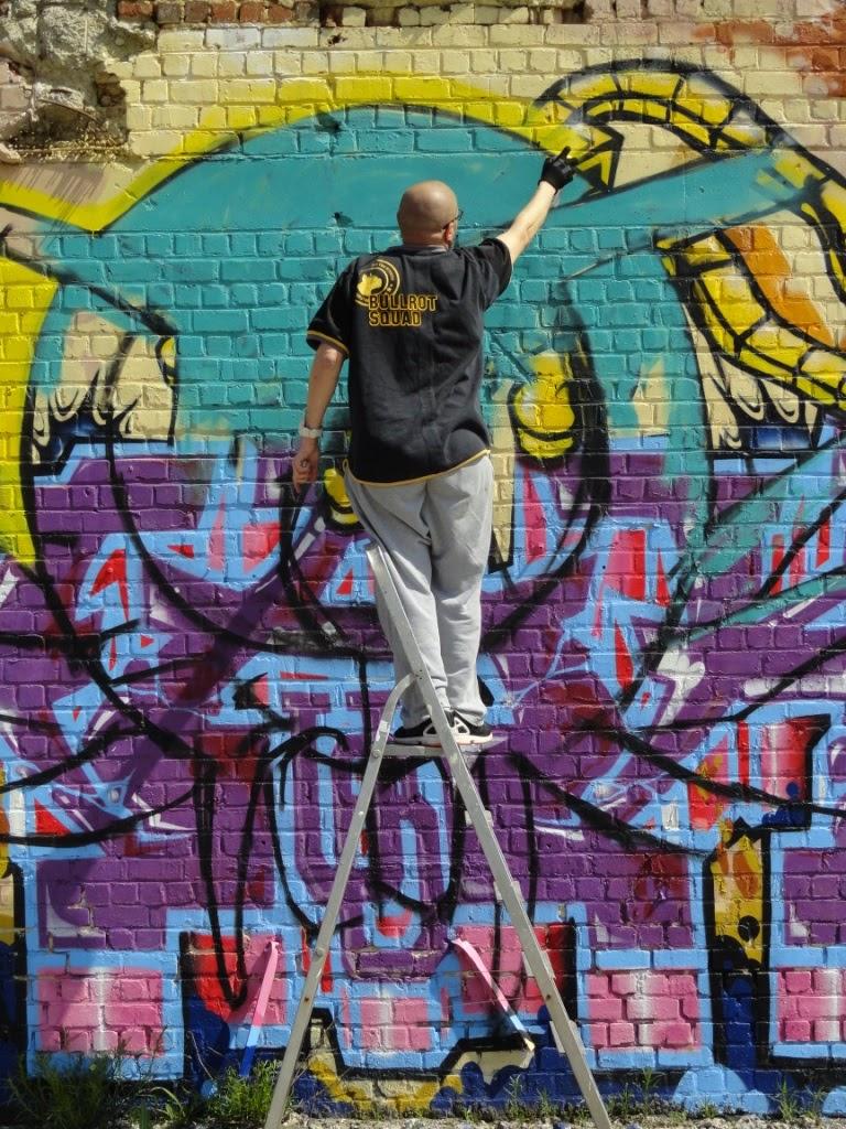 HMI - L'araignee au plafond - fresque murale