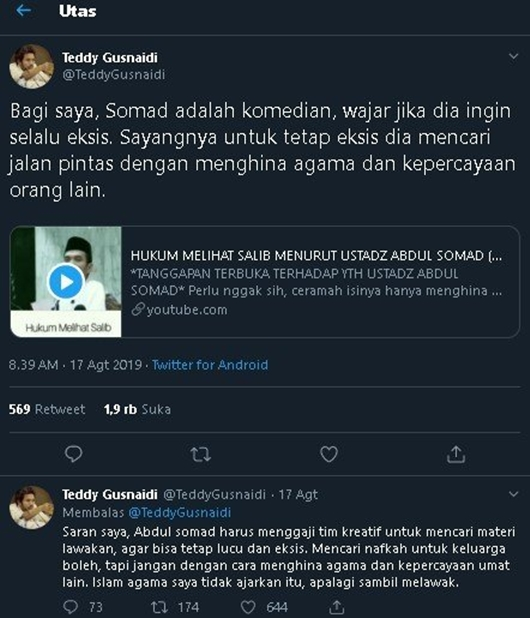 Sebut UAS Komedian, Politikus PKPI Diserbu Warganet